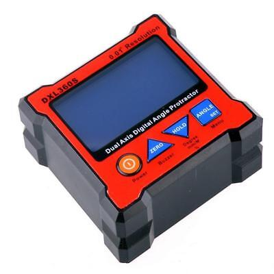 Dual Axis 0.01° Resolution Digital Angle Protractor Inclinometer DXL360S Tool