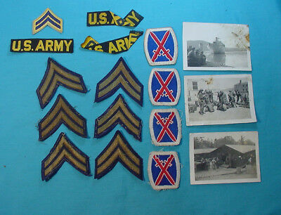 Us Army 10Th Infantry Division Soldiers Group Of Patches And Insignia