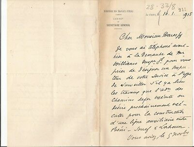 EGYPT ÄGYPTEN 1915 LETTER SIGNED by France Georges Émile Daressy