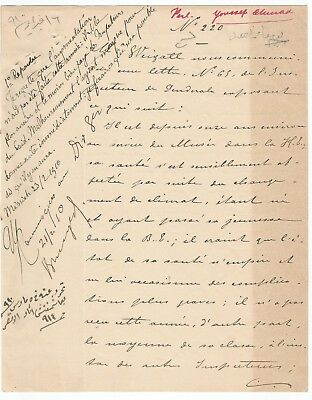 EGYPT ÄGYPTEN 1910 LETTER SIGNED BY Germany Egyptologist Émile Brugsch LOT 1