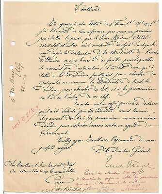 EGYPT ÄGYPTEN 1893 LETTER SIGNED BY Germany Egyptologist Émile Brugsch LOT 13