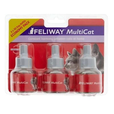 Feliway Multicat Diffuser Refills For Cats & Kittens 3 Pack Calming Pheromone