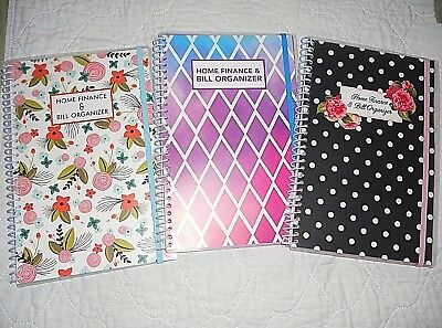 Bill Organizer And Monthly Home Finance With Pockets: 3 To Choose From.....
