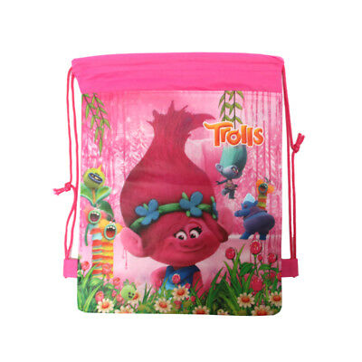 Trolls Drawstring Backpack Girls Rucksack Swim Party Bag Birthday Gift