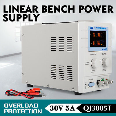 QJE 30V 5A Regulated Linear Bench Power Supply, Uk Distributor, QJ3005T