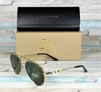 09bef7f31bc4 BURBERRY BE3092QF BE 3092Qf Be3092-Q-F Aviator Sunglasses -  49.00 ...