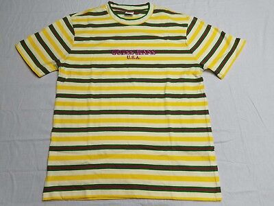 d7b22a71ad0b Guess Jeans x Sean Wotherspoon Farmers Market Striped Pineapple PG T Shirt  Md Lg