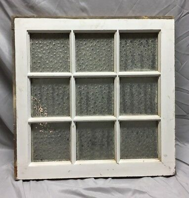 Antique 9 Lite Florentine Privacy Glass Window 24X24 Shabby Vintage Chic 599-18C
