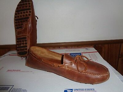 Cole Haan Mens GUNNISON II Shoes 12 D Leather Driving Loafer Mocassins Brown