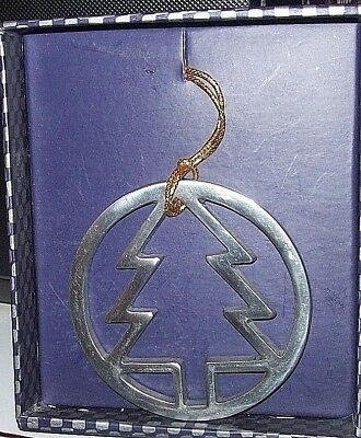 Vintage Luna Inc. Metal Tree Inside Circle  Ornament, Mint in Original Box