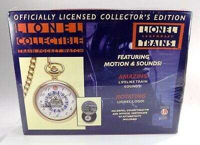 Lionel Collector's Train Pocket Watch W/ Sounds Nib | Brand New & Unopened #1446