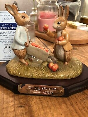 John Beswick Peter And Benjamin Picking Apples Limited Edition
