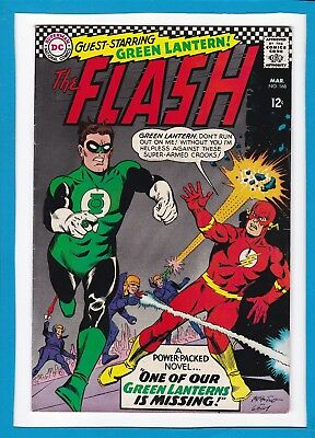 """The Flash #168_March 1967_Fine_""""one Of Our Green Lanterns Is Missing""""_Silver Dc!"""
