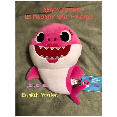 Pink Mommy Shark English Singing Plush WowWee USA Baby Shark Fast Ship For Xmas