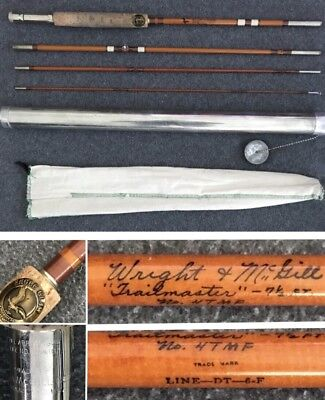 Vintage Wright & McGill Trailmaster 7 1/2 Ft. Fly Rod 4TMF With Sock And Tube