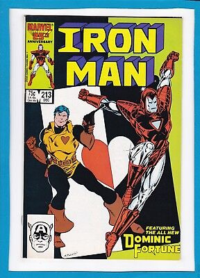 Iron Man #213_December 1986_Very Fine/near Mint_The All New Dominic Fortune!