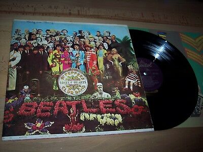 VG Beatles Sgt. Peppers Lonely Hearts Club Band LP Album w/insert