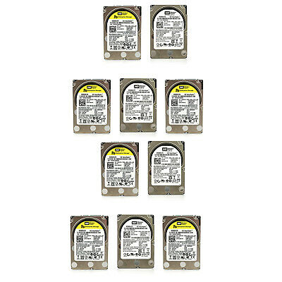 """Lot of 10 Assorted Dell HP WD Seagate 80GB 2.5"""" SATA Hard Drives Tested & Wiped"""
