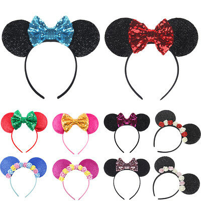 Minnie Mouse Ears Headbands for Girl Hairband Birthday Party Hair Accessories