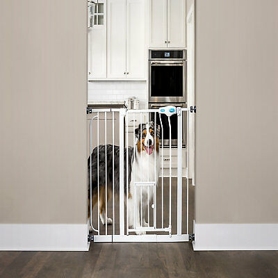 """Carlson Pet Products Extra Wide Walk-Thru Pet Gate with Door, 39""""-38.5"""" W x 30"""""""
