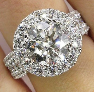 Gorgeous 925 Silver Jewelry Round Cut White Sapphire Women Wedding cSize6-10