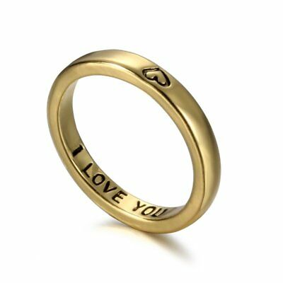 2017 Gold Tone Ring Gift Engraved Friendship Family Forever Fortune Charm Hot