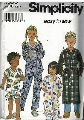 1dc6e7d217 9853 UNCUT Vintage Simplicity Sewing Pattern Girls Boys Loungewear Pajamas  Pants