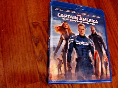 Captain America: The Winter Soldier; Chris Evans Blu-ray Disc,2014 NEW Fast Ship