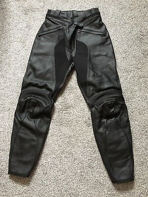 Dainese Ladies Firefly Leather Motorcyle Trousers Size 46