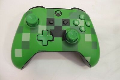 Microsoft Xbox One Wireless Controller Limited Edition Green Minecraft Creeper ~