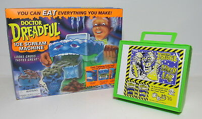 1994 TYCO DOCTOR DREADFUL ICE SCREAM MACHINE and LUNCH LAB, MINT in PACKAGE