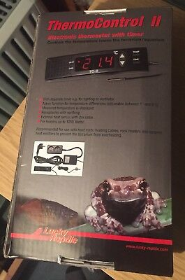 Lucky Reptile Thermo Control II, TC-2UK Digital Thermostat Thermocontrol 2 Stat