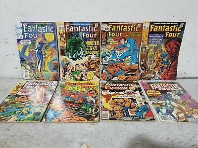 "Vintage Lot of (8) 1970/1994 Marvel Comics ""Fantastic Four"" Comic Books"