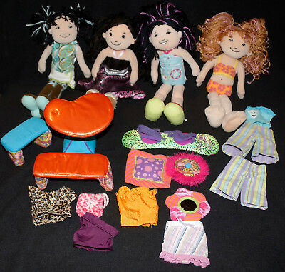 GROOVY Girls Plush Lot Dolls-Clothes-Accessories