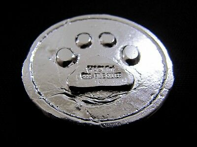 HACMint 3.4 oz 999+ Fine Silver LION PAW Hand Poured PENN STATE PSU Coin Round