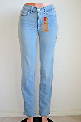 a999d7995e4 Levi s 314 Shaping Straight Jeans Summertime Blues NWT Style 196310056