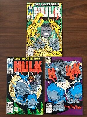 Incredible Hulk #343, 344 & 345 (vol 1) 1st Print TODD MCFARLANE MARVEL VFNM KEY