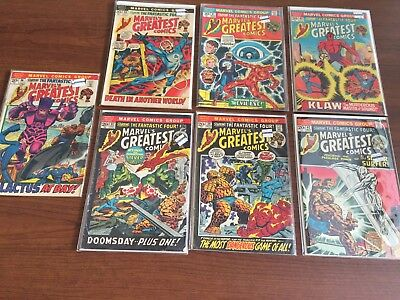 Vintage BRONZE Age Marvel's Greatest Comics Fantastic Four reprints See Photo
