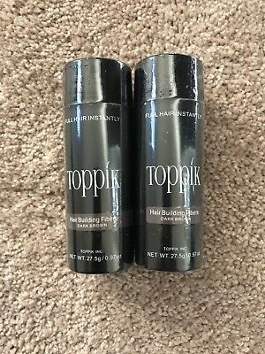 1ct.!! DARK BROWN TOPPIK Hair Loss Building Fiber 27-5g FREE AND FAST SHIPPING