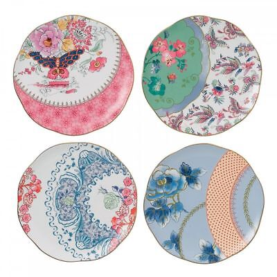 Wedgwood Harlequin Butterfly Bloom Plates, 8.25-Inch, Set of 4 New accent plates