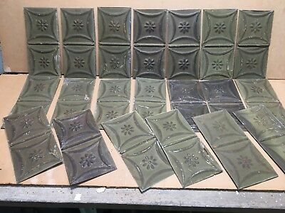 "20pc Lot of 6"" by 12"" Antique Ceiling Tin Vintage Reclaimed Salvage Art Craft"
