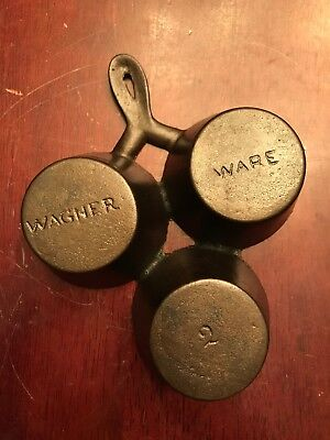 Rare Fully Marked Wagner Ware No. 2 Cast Iron Gem Pan
