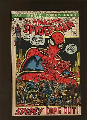 Amazing Spider-Man 112 FN/VF 7.0 * 1 Book * Spidey Cops Out by Conway & Romita!