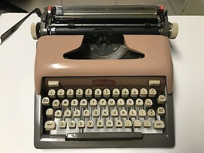Vintage Typewriter..royal Futura 800..pink-Salmon Works!