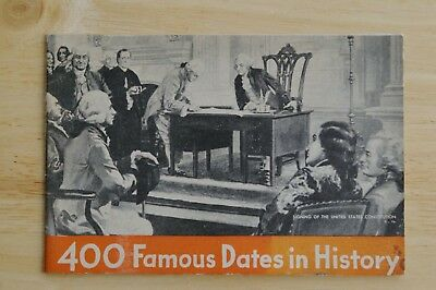 Chase & Sanborn Company pamphlet *400 Famous Dates in History*