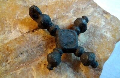 "RARE MEDIEVAL 10-13th CENTURY VIKING-STYLE LARGER BRONZE ""BUDDED"" CROSS PENDANT"
