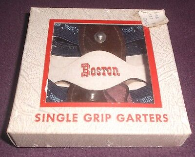 Vintage NOS Boston Single Grip Garters George Frost Shirley, Mass sock blue blac