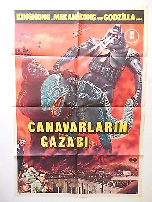 Original King Kong Escapes Godzilla Mechanical Kong 27x40 Movie Poster Rare