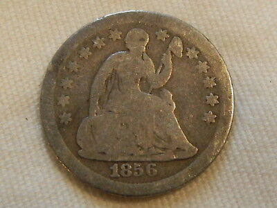 1856 seated liberty half dime five cent silver coin