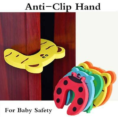 6pcs Children Baby Safety Cartoon Door Stopper Clip Clamp Pinch Hand Security